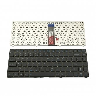 Клавиатура за лаптоп Asus EEE PC 1225 Automobili Lamborghini VX6 Черна Без Рамка (Малък Ентър) / Black Without Frame US