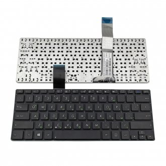 Клавиатура за лаптоп Asus VivoBook S300 Black Without Frame US / Черна Без Рамка (Малък Ентър) с Кирилица