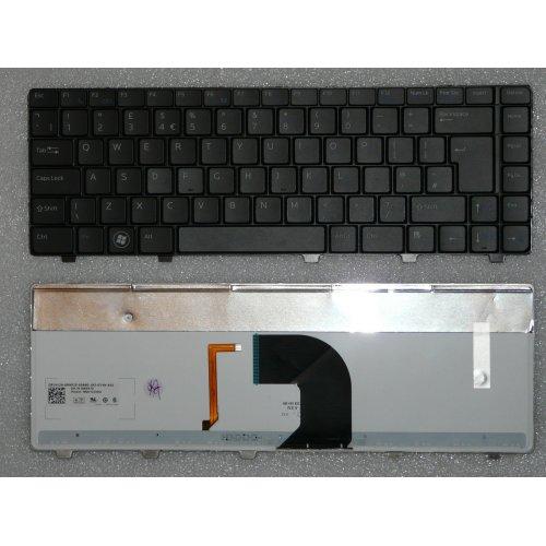 Клавиатура за лаптоп Dell Vostro 3300 3400 3500 Черна с Подсветка и Кирилица / Black Backlit
