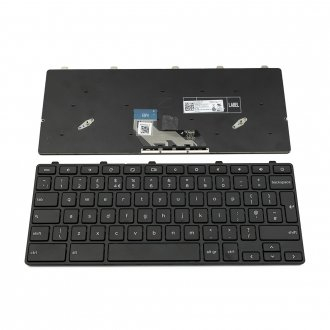 Клавиатура за лаптоп Dell ChromeBook 11 3180 3189 Черна с Черна Рамка / Black Frame Black