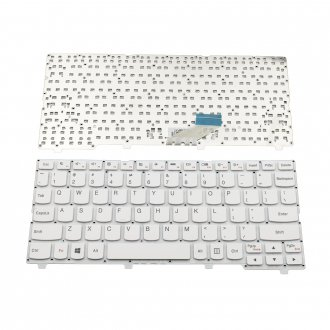 Клавиатура за лаптоп Lenovo IdeaPad 110S-11IBR Бяла Без Рамка (Малък Ентър) / White Without Frame US