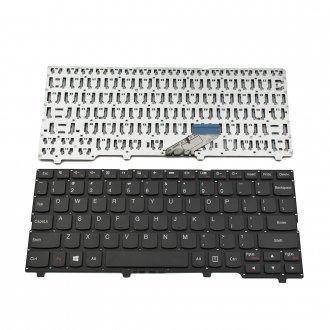 Клавиатура за лаптоп Lenovo IdeaPad 110S-11IBR Черна Без Рамка (Малък Ентър) / Black Without Frame US