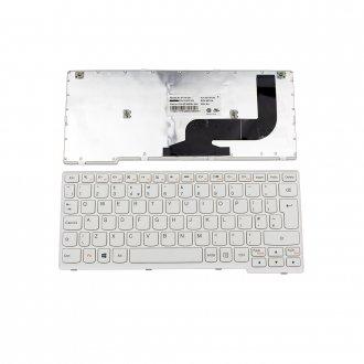 Клавиатура за лаптоп Lenovo S210T Бяла с Бяла Рамка / White Frame White