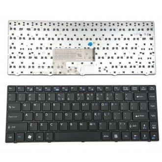 Клавиатура за лаптоп MSI X370 CX41 CX420 CX420MX GE40 Черна с Лъскава Рамка с Кирилица / Glossy Frame Black