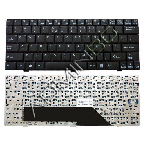 Клавиатура за лаптоп MSI Wind U100 U110 U120 U130 US Black с Кирилица