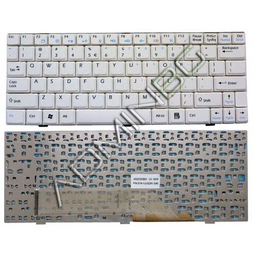 Клавиатура за лаптоп MSI Wind U100 U110 U120 Бяла с Кирилица