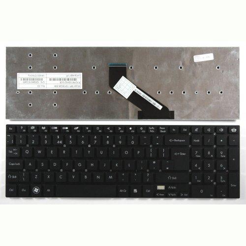 Клавиатура за лаптоп Packard Bell TS11SB TS11HR TS13SB TSX66HR Gateway NV55 Черна Без Рамка / Black Without Frame US/UK