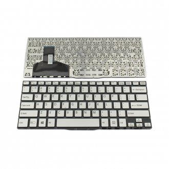 Клавиатура за лаптоп Sony Vaio SVF13 Сребриста Без Рамка (Малък Ентър) / Silver Without Frame US