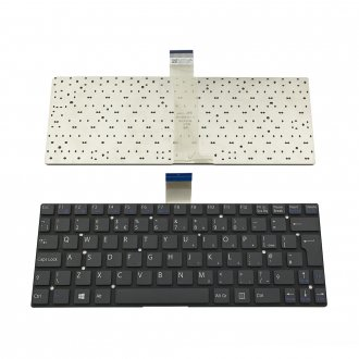 Клавиатура за лаптоп Sony Vaio SVT11 Черна Без Рамка (Голям Ентър) / Black Without Frame UK