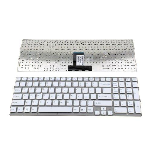 Клавиатура за лаптоп Sony Vaio VPC-EB VPC EB Бяла Без Рамка (Малък Ентър) / White Without Frame US
