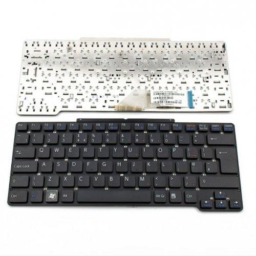 Клавиатура за лаптоп Sony Vaio VGN-SR Черна Без Рамка (Голям Ентър) / Black Without Frame UK
