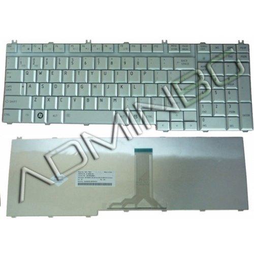 Клавиатура за лаптоп Toshiba Satellite L350 L355 L500 L505 L550 L555 Сребриста