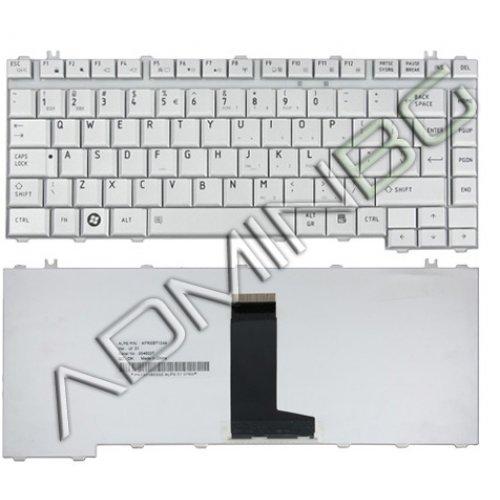 Клавиатура за лаптоп Toshiba Satellite A200 A205 A210 A215 Бяла с Кирилица