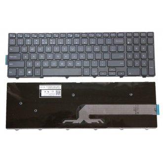 Клавиатура за лаптоп Dell Inspiron 3541 3542 5547 5551 5748 5749 Vostro 3549 US/UK Black Frame Black / Черна с черна рамка