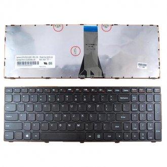Клавиатура за лаптоп Lenovo IdeaPad G50-30 G50-70 Черна с черна рамка / Black Frame Black с Кирилица