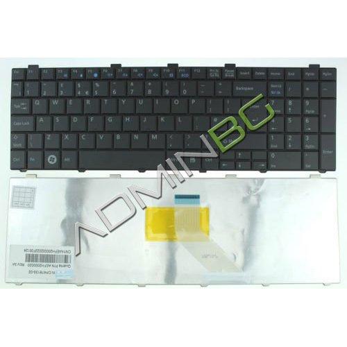 Клавиатура за лаптоп Fujitsu LifeBook AH530 AH531 Black US/UK с Кирилица