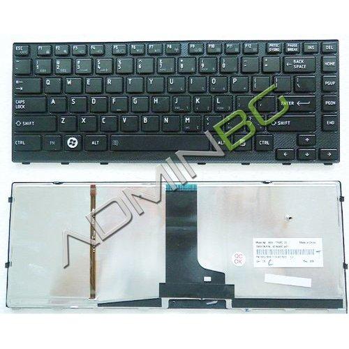 Клавиатура за лаптоп Toshiba Satellite M640 M645 Черна с Черна Рамка и Backlit