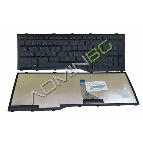 Клавиатура за Fujitsu LifeBook AH532 A532 N532 NH532 Black Frame Black US/UK с Кирилица