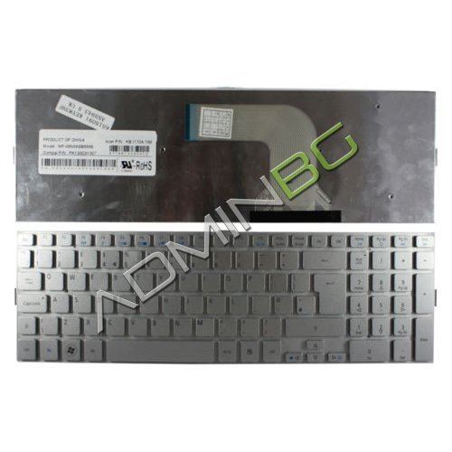 Клавиатура за лаптоп Acer Aspire 5943G 5950G 8943G 8950G Silver Without Frame US с Кирилица