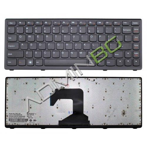 Клавиатура за лаптоп Lenovo IdeaPad S400 Black Frame Black с Кирилица