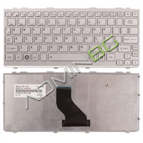 Клавиатура за лаптоп Toshiba NB200 NB205 Series Сребриста Frame (2 version)