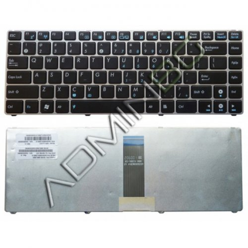 Клавиатура за лаптоп Asus U20A UL20 UL20A Eee PC 1201 Silver Frame Black US/UK
