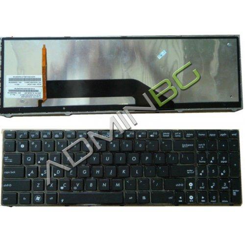Клавиатура за лаптоп Asus K50 K51 K70 K60 X5DC Black Backlit US/UK с Кирилица