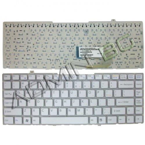 Клавиатура за лаптоп Sony Vaio VGN-FW VGN FW Series БЯЛА БЕЗ РАМКА С Кирилица