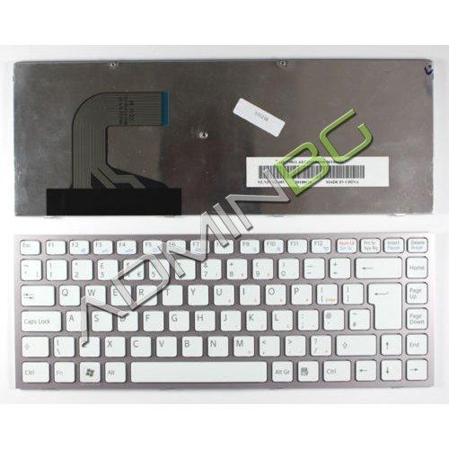 Клавиатура за лаптоп Sony Vaio VPC-S Series Pink Frame White