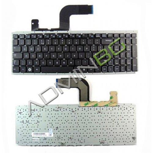 Клавиатура за лаптоп Samsung RC510 RC508 - Черна Без Рамка - с Голям Ентър