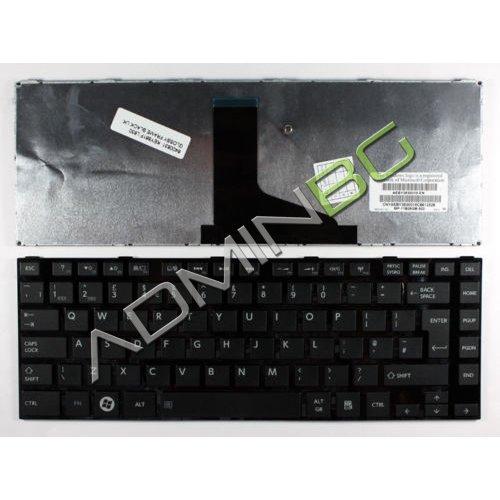 Клавиатура за лаптоп Toshiba Satellite L800 L805 L830 C800 C805 Черна Гланцова с Кирилица
