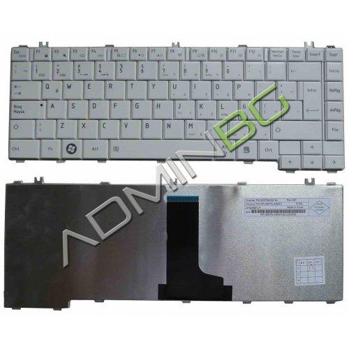 Клавиатура за лаптоп Toshiba Satellite L600 L630 L640 L645 Бяла