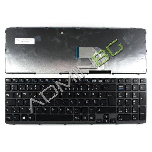 Клавиатура за лаптоп Sony Vaio SVE15 Gray Frame Black Backlit Type 2