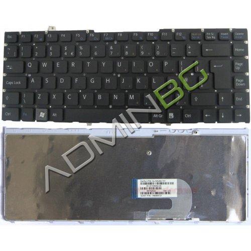 Клавиатура за лаптоп Sony Vaio VGN-FW VGN FW Черна No Frame UK с Кирилица