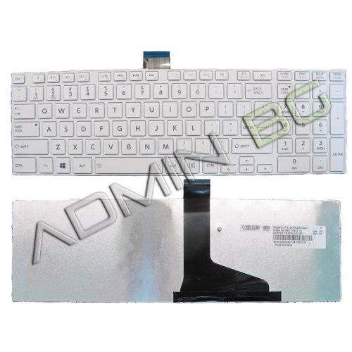 Клавиатура за лаптоп Toshiba Satellite C850 C855 C850D L850 L850D Бяла