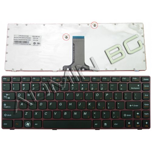 Клавиатура за лаптоп Lenovo IdeaPad V370 Red Frame Black