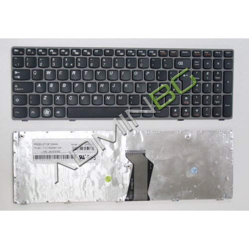 Клавиатура за лаптоп Lenovo IdeaPad G570 G575 Z560 Z565 Gray Frame Black