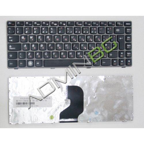 Клавиатура за лаптоп Lenovo IdeaPad Z450 Z460 Gray Frame Black с Кирилица